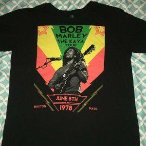 Bob Marley The Kaya Tour Boston 1978 T-shirt Zion